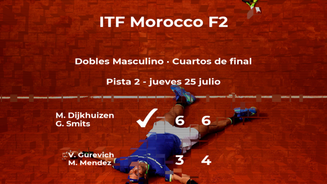 Dijkhuizen y Smits consiguen su plaza en las semifinales del torneo de Casablanca