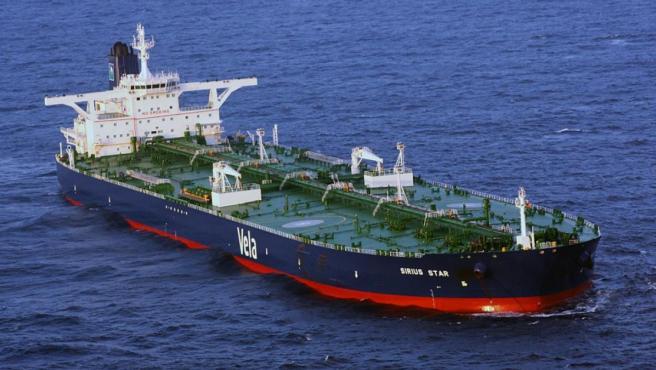 Imagen de archivo de un barco petrolero.