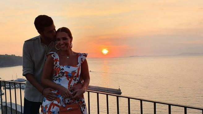 Miguel Torres y Paula Echevarría durante sus vacaciones en Italia.