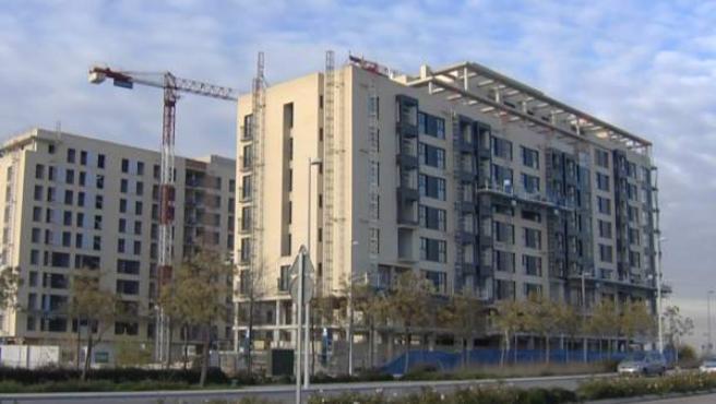 Imagen de una vivienda en construcción.