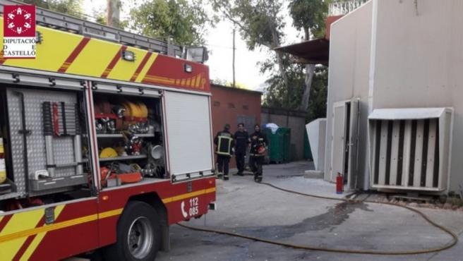 Imagen de un camión de bomberos de Castellón.