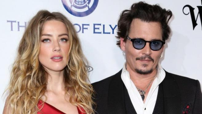 Los ya divorciados Amber Heard y Johnny Depp.