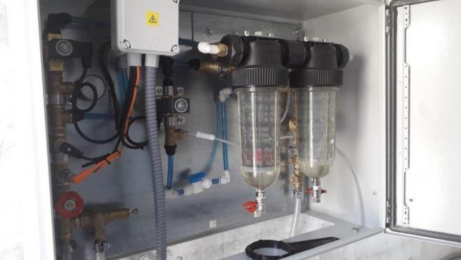 Sistema de monitorización en continuo instalado por la CHE en el embalse de Yesa para detectar larvas de mejillón cebra