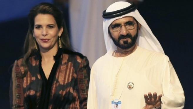 El jeque de Dubai y la princesa Haya bint Al Hussein en 2017.