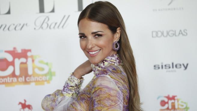 Paula Echevarría en el 'photocall' de la gala solidaria de ELLE Cancer Ball.