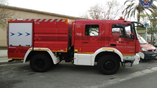 Imagen de un camión de los Bomberos de Mallorca