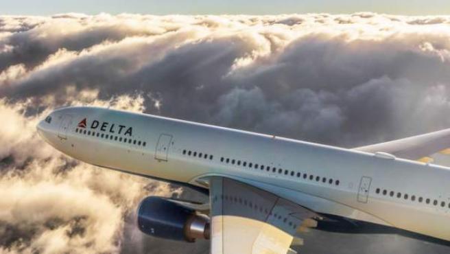 Una imagen de un avión de Delta Airlines.
