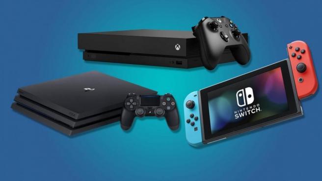 La consolas Nintendo Switch, PS4 y Xbox One.