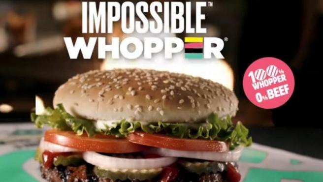 Así es Impossible Whopper, la hamburguesa vegetariana de Burger King.