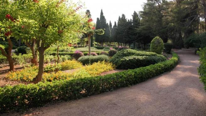 Imagen de los jardines de Marivent.