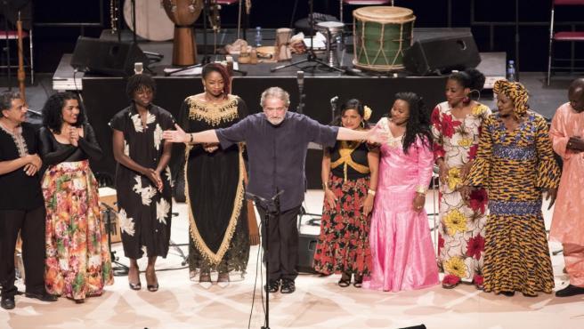 Jordi Savall inaugura el 39 Festival de Torroella de Montgrí (Girona) con 'Les rutes de l'esclavatge 1444-1888'.