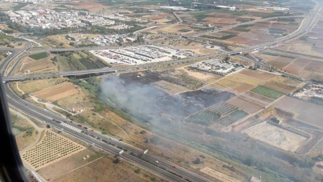 Incendio de vegetación en Torrent