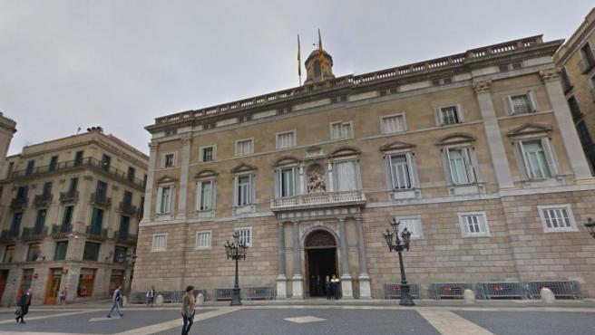 Fachada del Palau de la Generalitat de Cataluña, en Barcelona.
