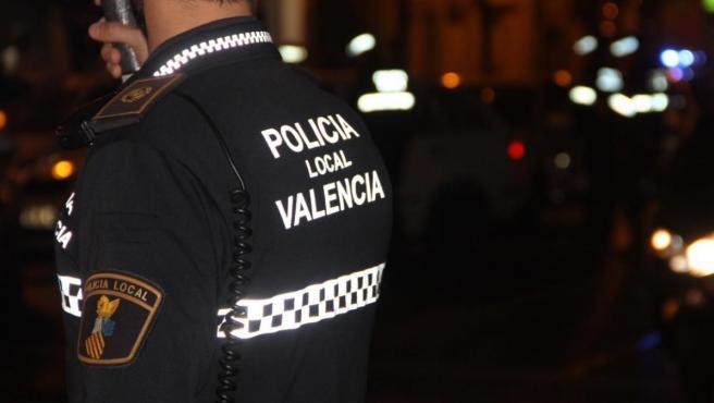 Un agente de la Policía Local de València.
