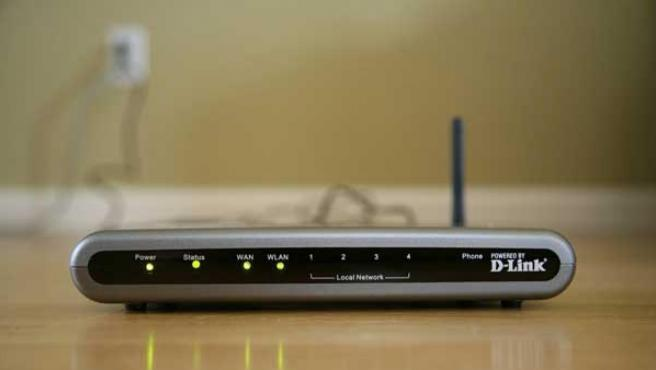 Imagen de un router inalámbrico.