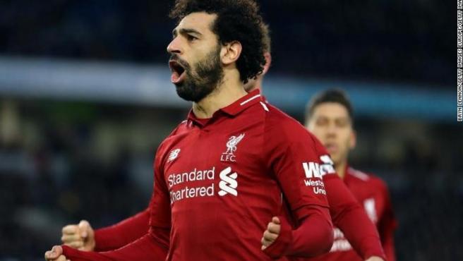 Salah, delantero del Liverpool.