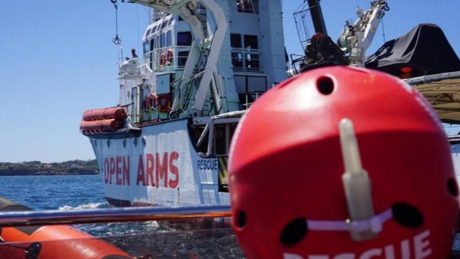 Imagen de rescate en el Open Arms.