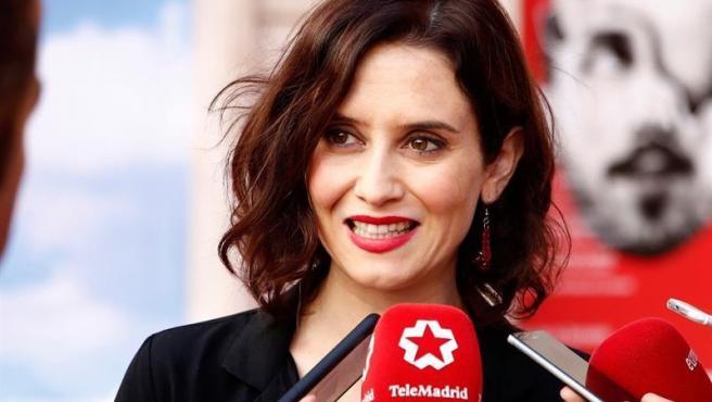 La candidata del PP a la presidencia de la Asamblea de Madrid, Isabel Díaz Ayuso, en el X Congreso Internacional de Excelencia.