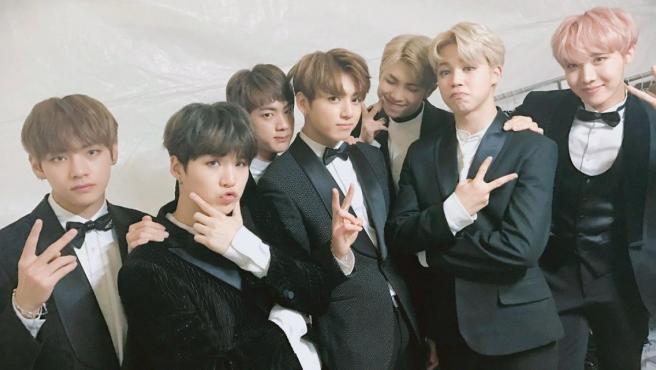 El grupo coreano BTS en una imagen antes de uno de sus conciertos.