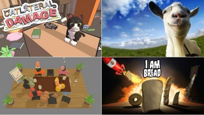 Carátulas e imágenes de algunos de los videojuegos más extraños a los que podemos jugar.