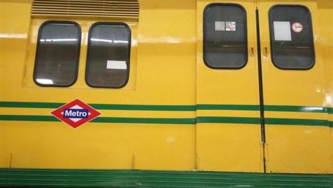 Foto de recurso de piezas de amianto localizadas en antiguos trenes del Metro de Madrid