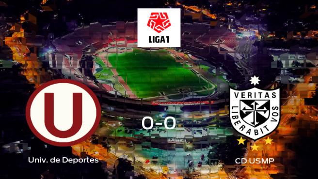 Reparto de puntos entre el Universitario de Deportes y el CD USMP: 0-0