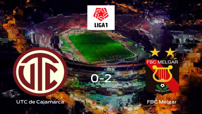 El FBC Melgar se lleva tres puntos a casa después de ganar 0-2 al UTC de Cajamarca