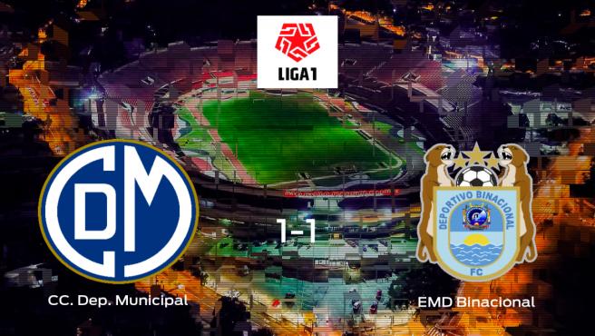 El CC Deportivo Municipal y el Escuela Municipal Deportivo Binacional logran un punto tras empatar a 1