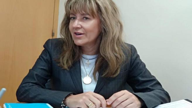 La candidata del PP al Congreso por Asturias, Paloma Gázquez, en una entrevista.