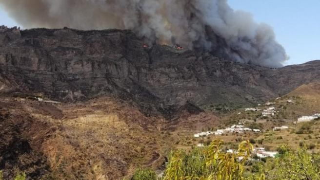 Imágenes del incendio de Gran Canaria.