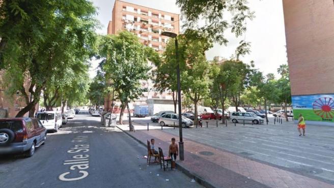 Imagen de la calle Santa Rita, en Murcia.