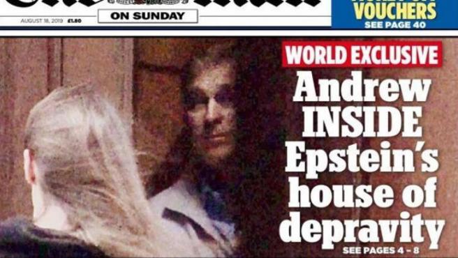 La portada de The Mail con las imágenes del príncipe Andrés