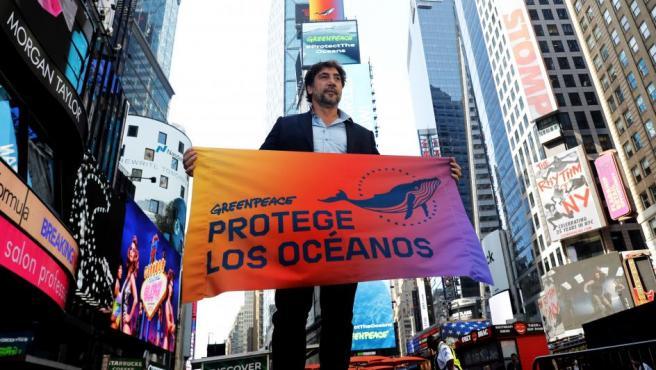 Javier Bardem ha solicitado a los líderes políticos un pacto mundial para la defensa de los océanos, en Nueva York (EE UU).