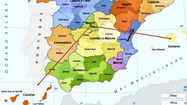 Un Usuario Bromea Con La Localizacion De Canarias En El Mapa De