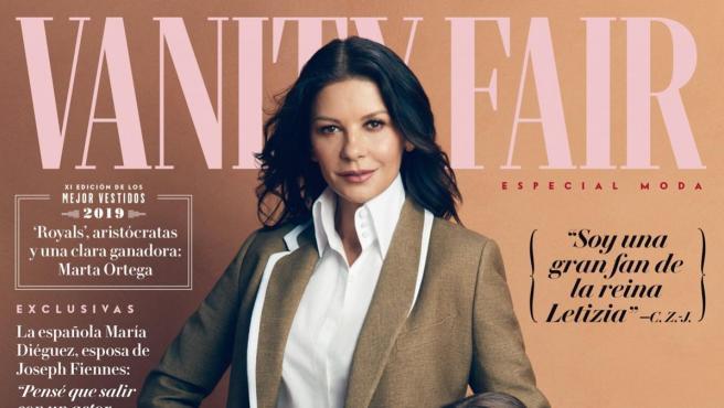 Catherine Zeta-Jones y su hija Carys en la portada de 'Vanity Fair'.