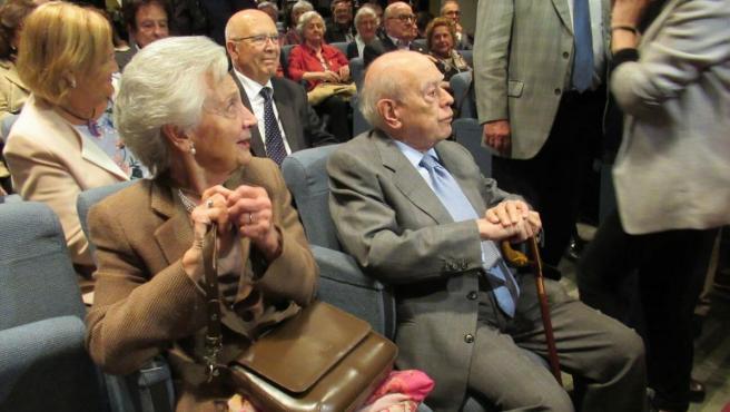 El expresidente de la Generalitat Jordi Pujol y su mujer, Marta Ferrusola.