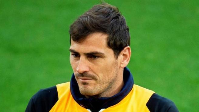Iker Casillas, en un entrenamiento con el Oporto.