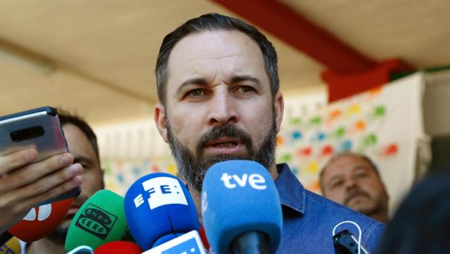 Santiago Abascal, de Vox tras voltar el 26M.