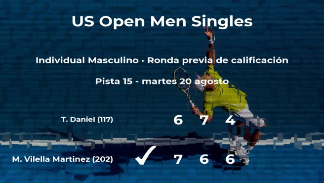 El tenista Mario Vilella Martinez ganó a Taro Daniel en la ronda previa de calificación del US Open