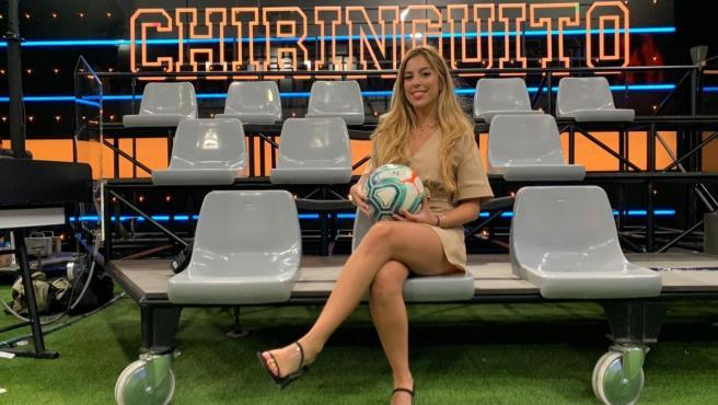 La exfutbolista y reportera Andrea Borreguero.