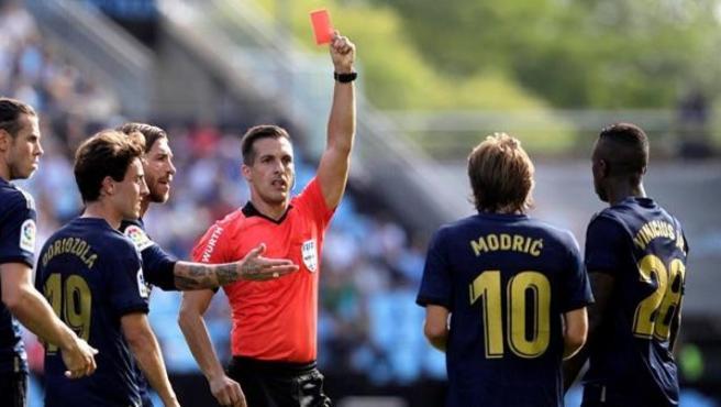 El jugador croata Luka Modric, expulsado en el partido frente al Celta.