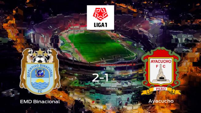 Tres puntos para el equipo local: Escuela Municipal Deportivo Binacional 2-1 Ayacucho FC