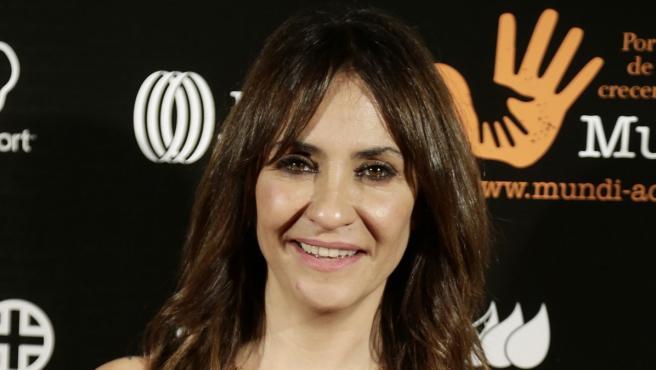"""La actriz en la segunda edición de la Gala """"Fundación Mundi""""."""