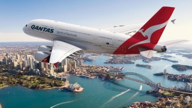 Imagen de archivo de un avión de Qantas.