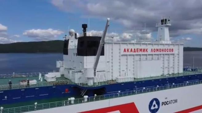 Imagen del Akademik Lomonosov, el 'Titanic nuclear' ruso capaz de llevar energía a cualquier punto del planeta.