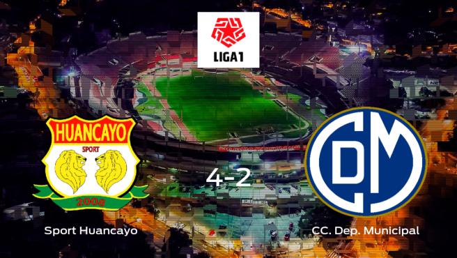 El Sport Huancayo logra la victoria tras derrotar 4-2 al CC Deportivo Municipal