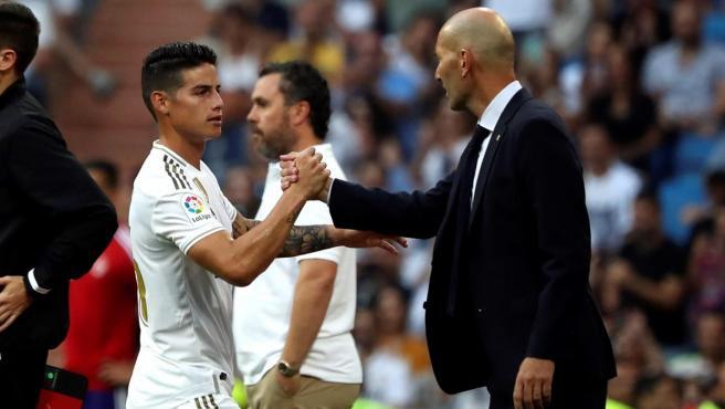 James Rodríguez y Zinedine Zidane.