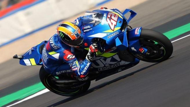 Alex Rins, en el Gran Premio de Gran Bretaña