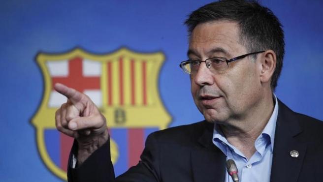 Josep María Bartomeu, en rueda de prensa