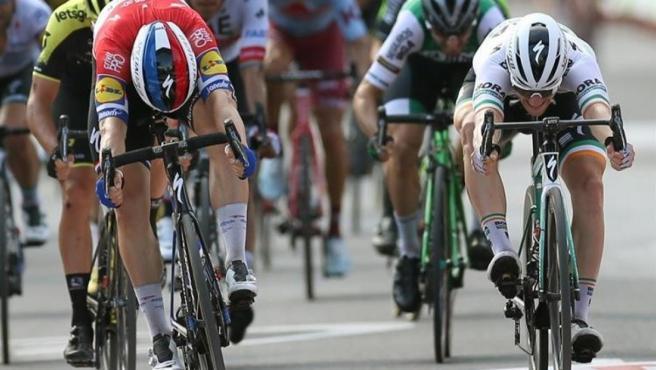 El ciclista holandés Fabio Jakobsen, vencedor en la cuarta etapa de la Vuelta a España.